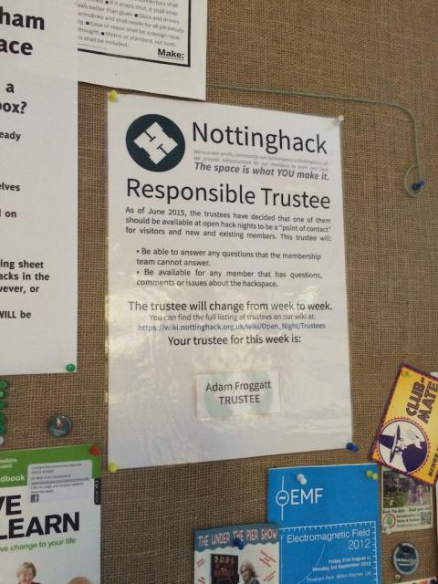 Open Night Trustees - Nottinghack Wiki