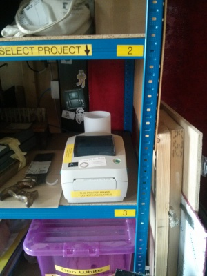 The Large Project Storage label printer