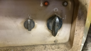 Power and water pump switches